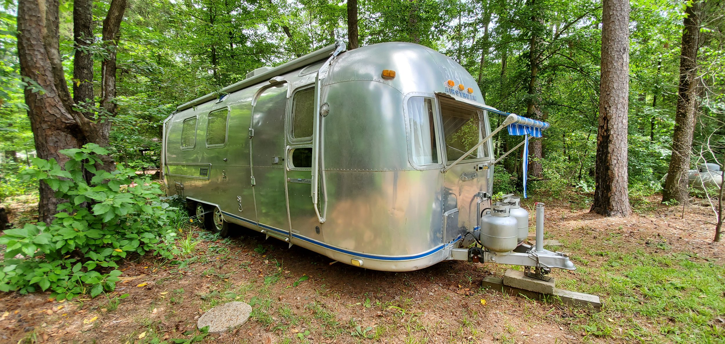 The Airstream our resident photographer will stay in for two weeks. Below is the location the Airstream will be placed; beside a small pond on Lynn Farms.