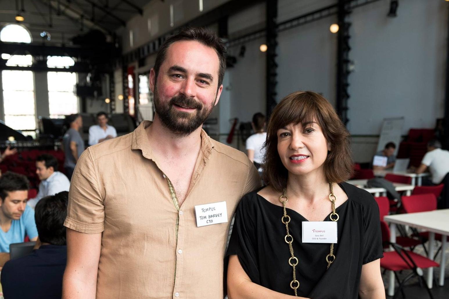 Tom Harvey, CTO & Sara Bell, CEO
