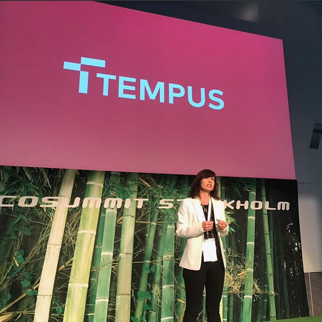 Sara Bell was in Stockholm this week speaking at the Ecosummit .  The Ecosummit accelerates smart green Startups to foster the energy transition and low carbon economy . The presentation will be up on our blog shortly - link in bio . . .  #ecosummit #eco17 #tempusenergy #flexibleenergy