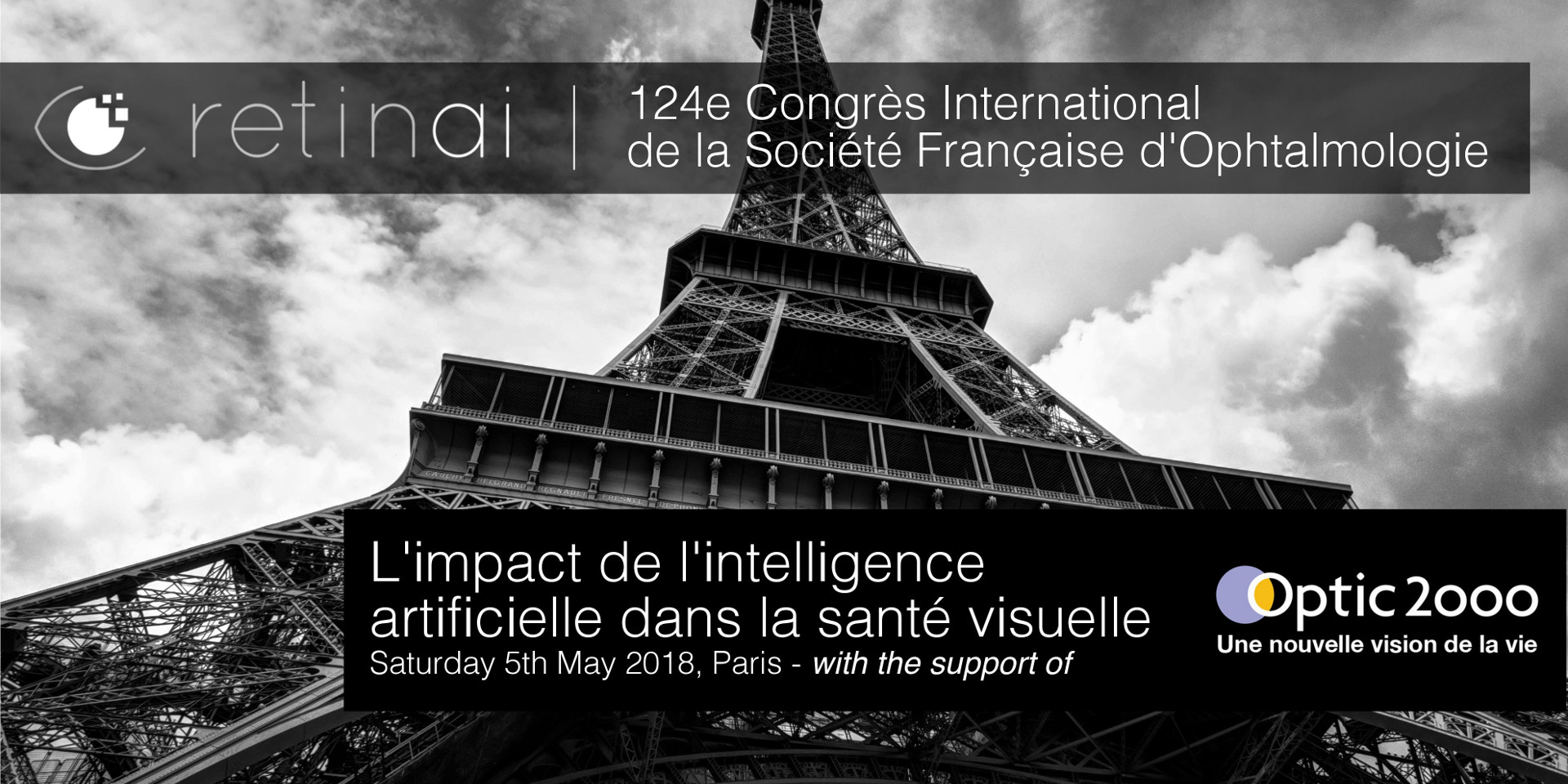 124e International congress de la SFO [May'18] - RetinAI had the pleasure to present in the 124e Congrès International de la Société Française d'Ophthalmologie in the session: 'L'impact de l'intelligence artificielle dans la santé visuelle', organised by Optic 2000 in Paris! Wonderful day presenting how AI and machine learning are changing the current paradigm of screening and monitoring of eye diseases.
