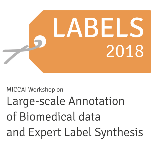 RetinAI AT MICCAI'18 LABELS [September'18] - RetinAI participated in this year's edition of the annual International Conference on Medical Image Computing & Computer Assisted (MICCAI) in Granada, Spain, held on September 16-20.This year was the first time we sponsored the Large-Scale Annotation of Biomedical data and Expert Label Synthesis (LABELS) workshop at the event, offering a price to the winner of the competition for the best paper: 'Deep Learning Retinal Vessel Segmentation From a Single Annotated Example: An Application of Cyclic Generative Adversarial Neural Networks' by Praneeth Sadda, John A. Onofrey, and Xenophon Papademetris.