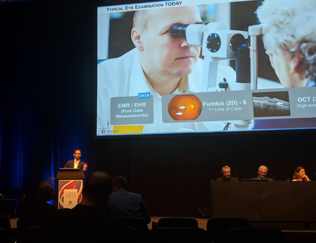 18th euretina congress [september'18] - Our team members travelled to the European Society of Retina Specialists (EURETINA) in Vienna, 20-23 September, to present our latest products to make eye hospitals more efficient using Artificial Intelligence (AI). Stay tuned if you want to learn more about how AI is going to change the life of many eye care professionals in the near future.