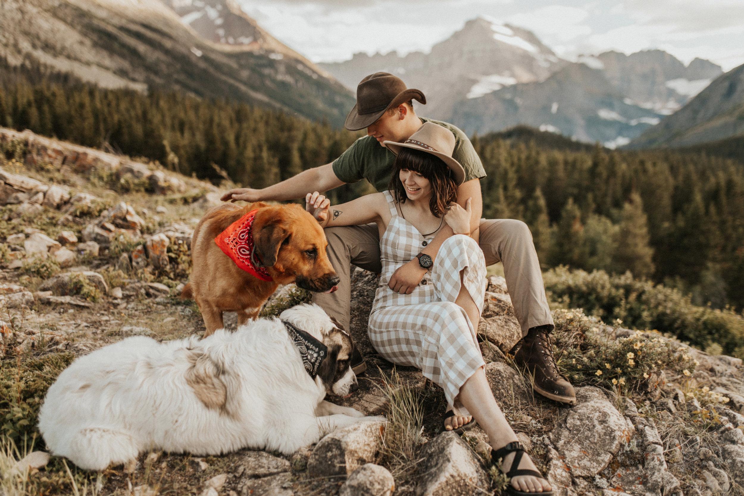 glacier national park intimate wedding photographer