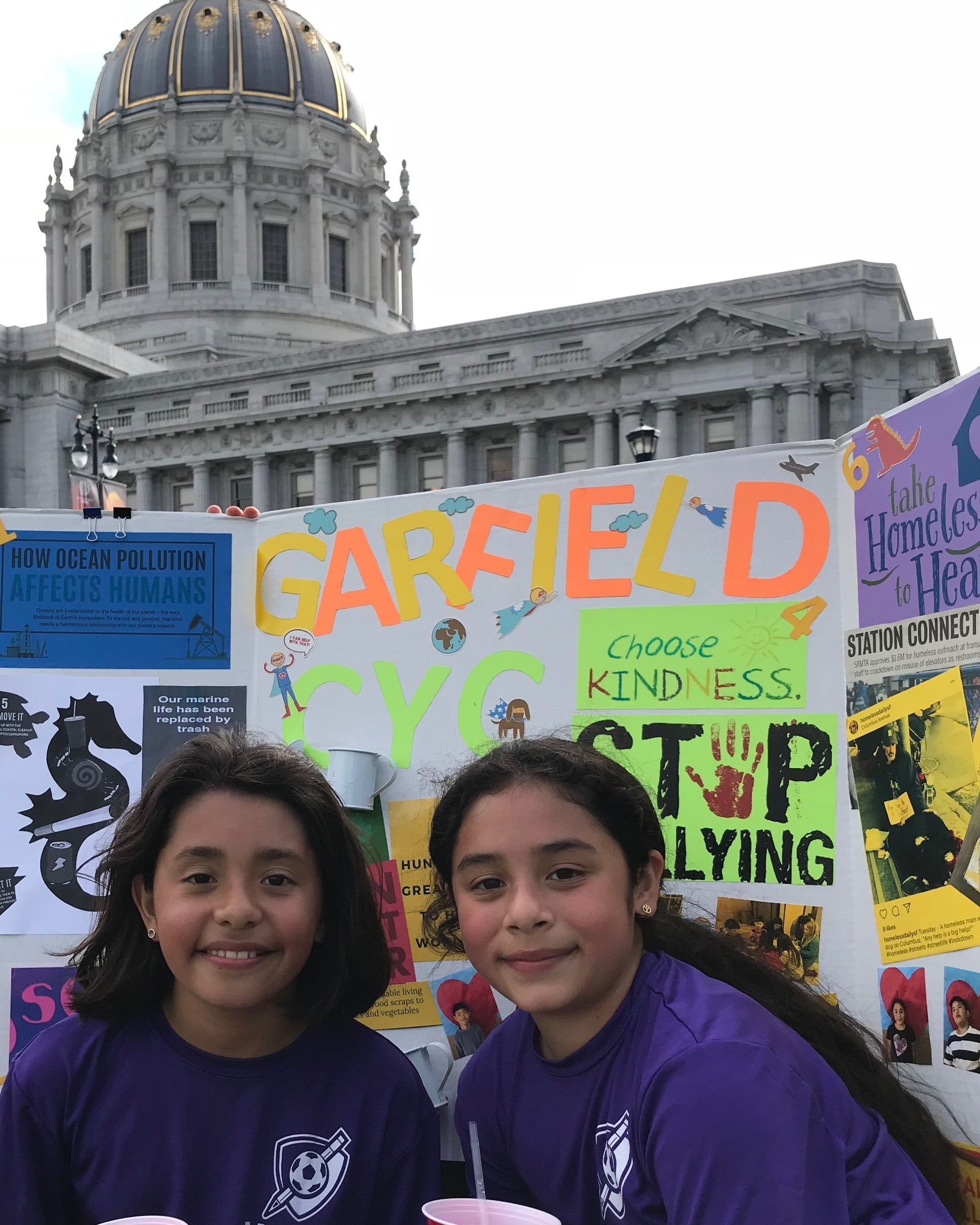 Third graders Seville Ramos and Briana Aleman from Garfield Elementary School