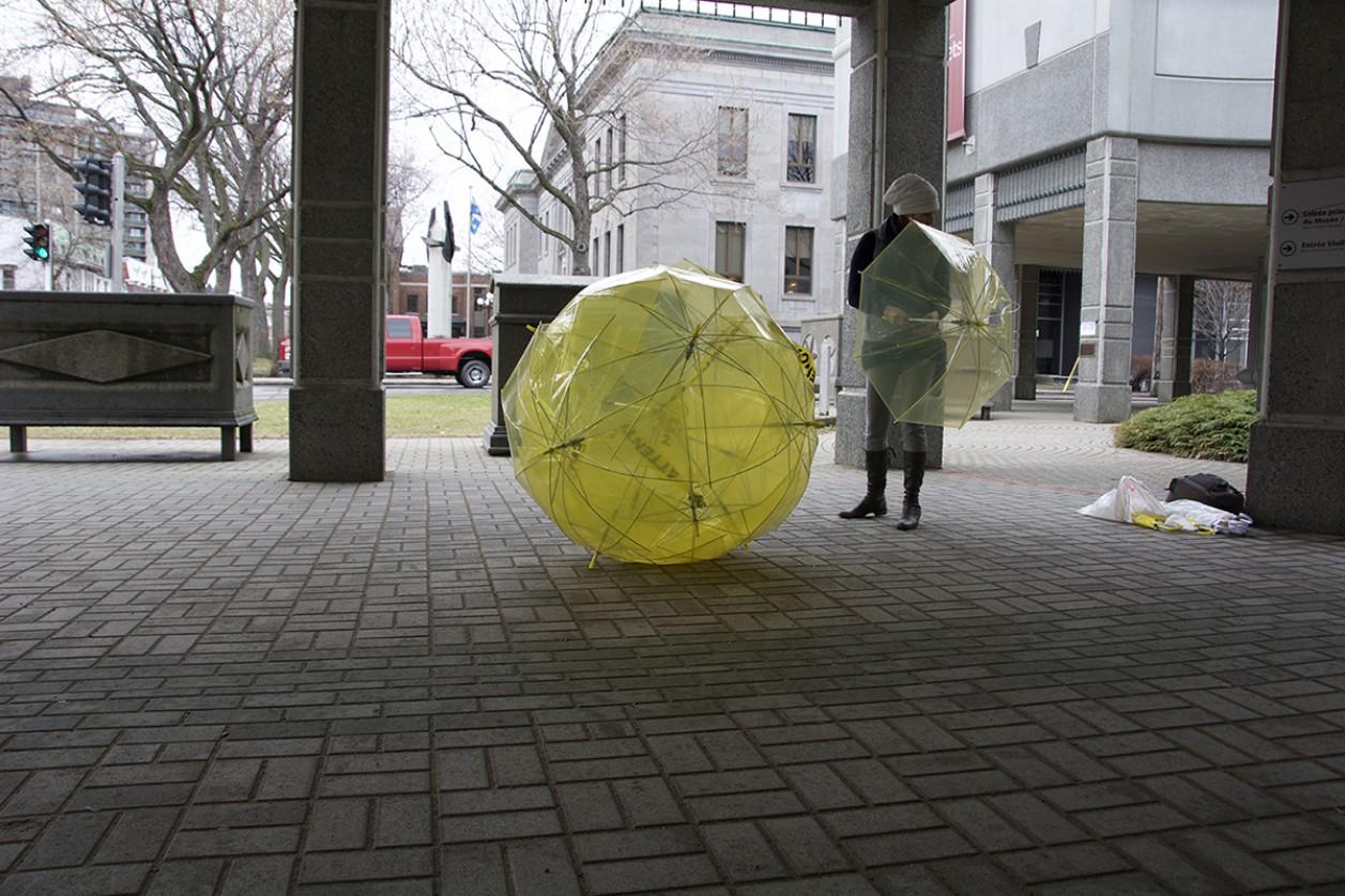 «Un mot pour la Terre» Interventions sur la place publique.