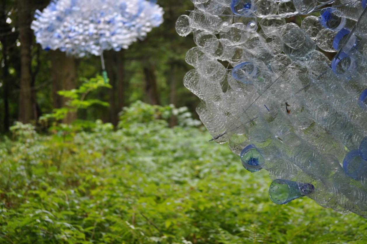Résidence de création in Situ «Capteurs de pluies» / Clairière Art Nature  2010