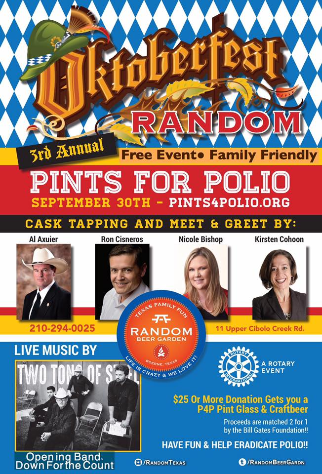 Image Source:  Boerne Pints for Polio