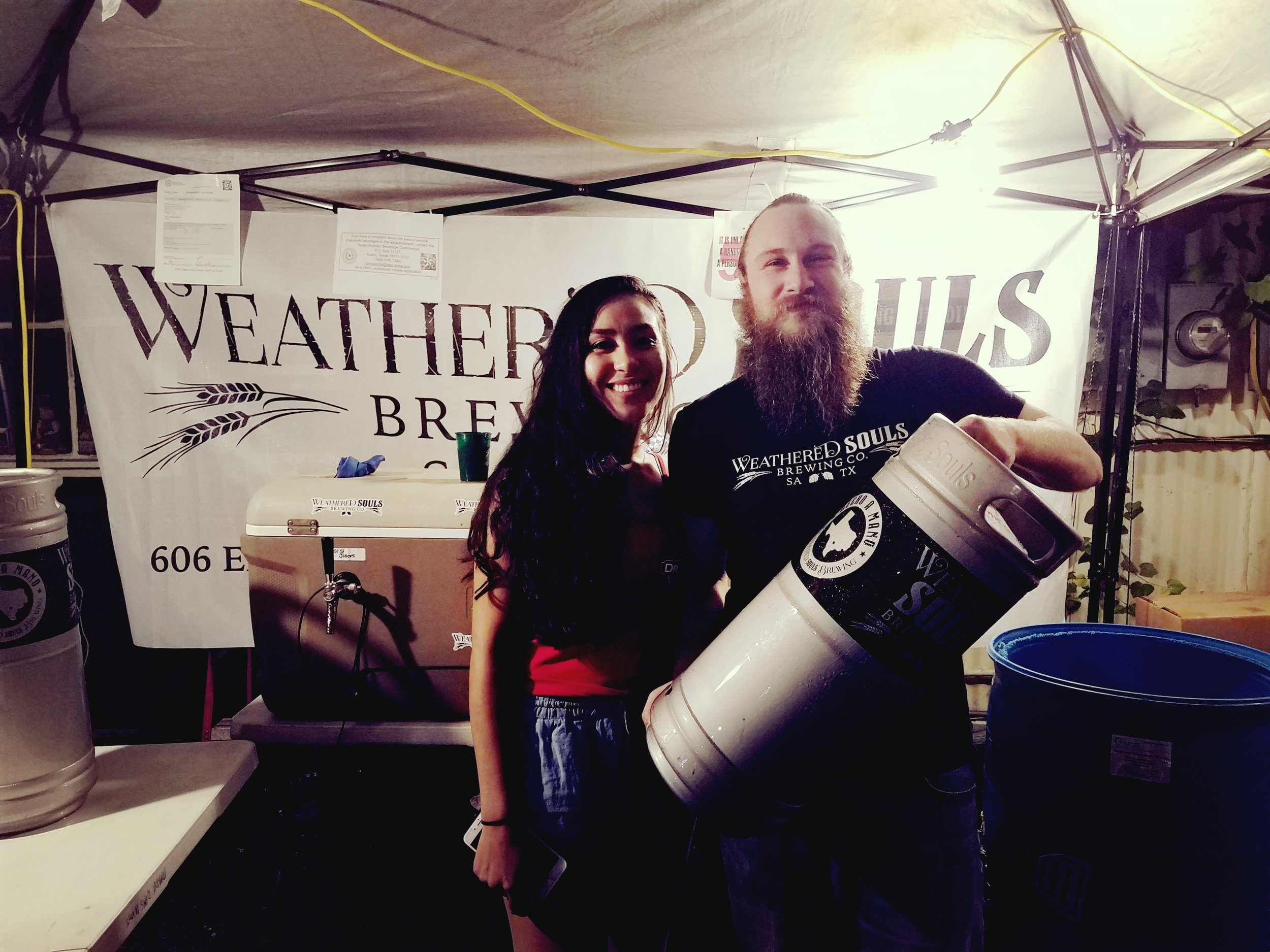 The good folks from  Weathered Souls Brewing Co.  made it in from San Antonio to help us celebrate Oktoberfest.