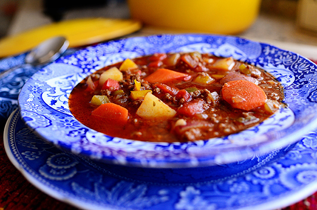Hamburger Soup  from  The Pioneer Woman