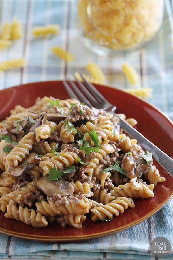One Pot Beef Stroganoff  from  Taste and Tell