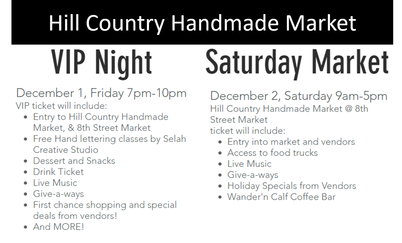 Information and partial graphics from  Hill Country Handmade