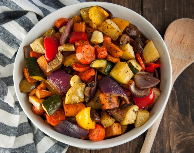 Roasted veggies from  Feasting Not Fasting