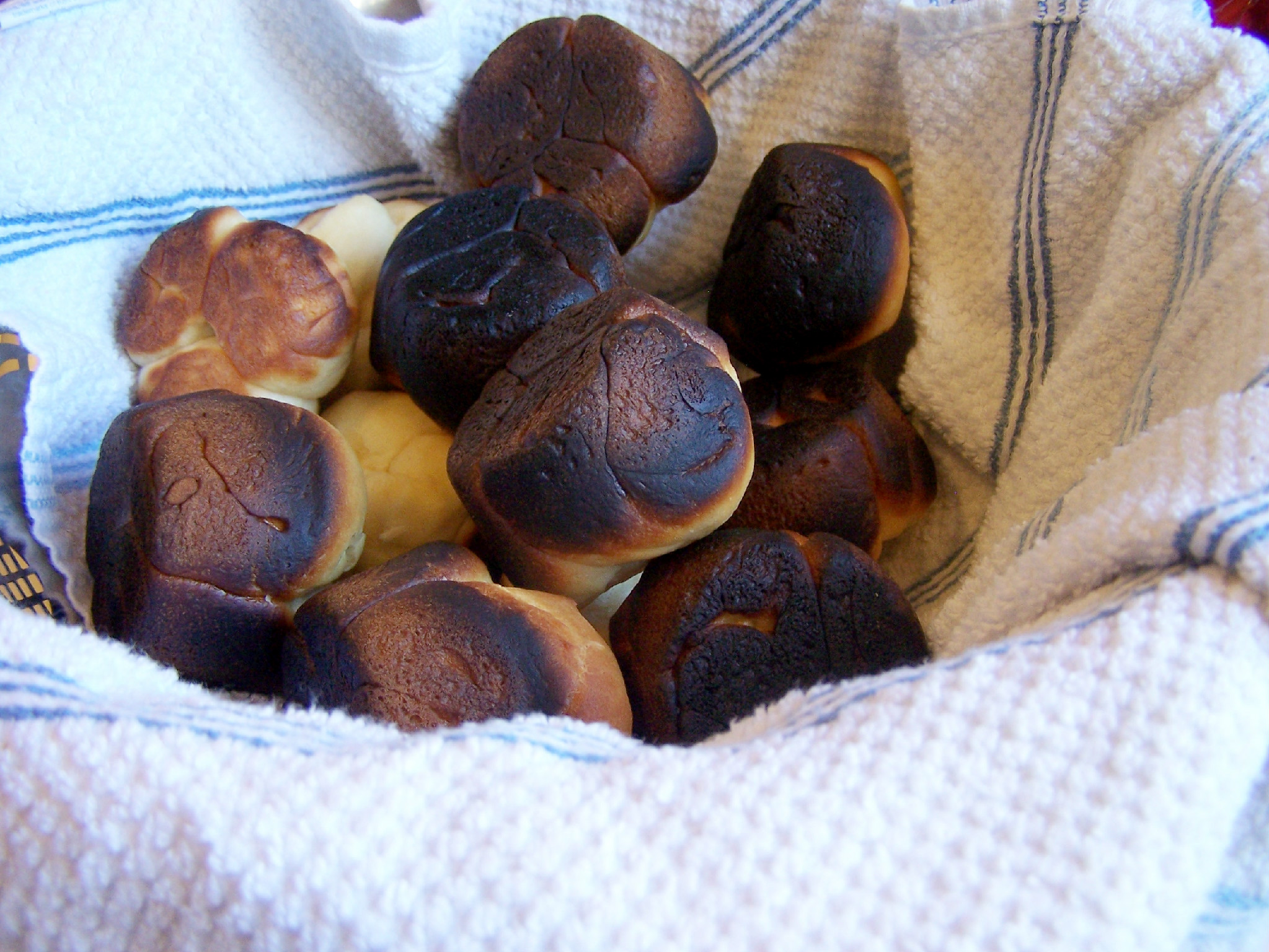 These are actually not my burned dinner rolls, but they might as well be. ( Image Source )