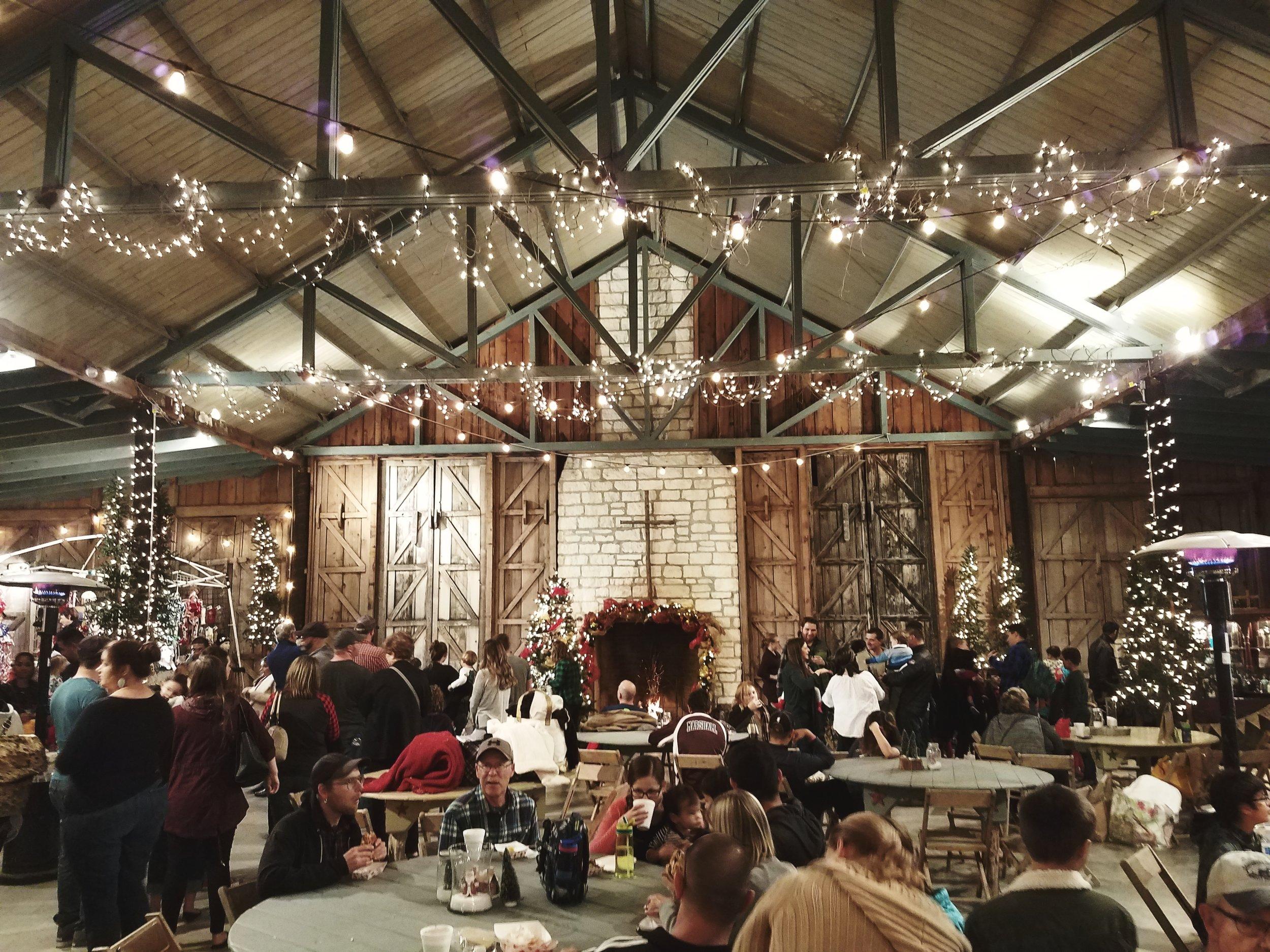 Santa's Village at the Don Strange Ranch Christmas Light Fest