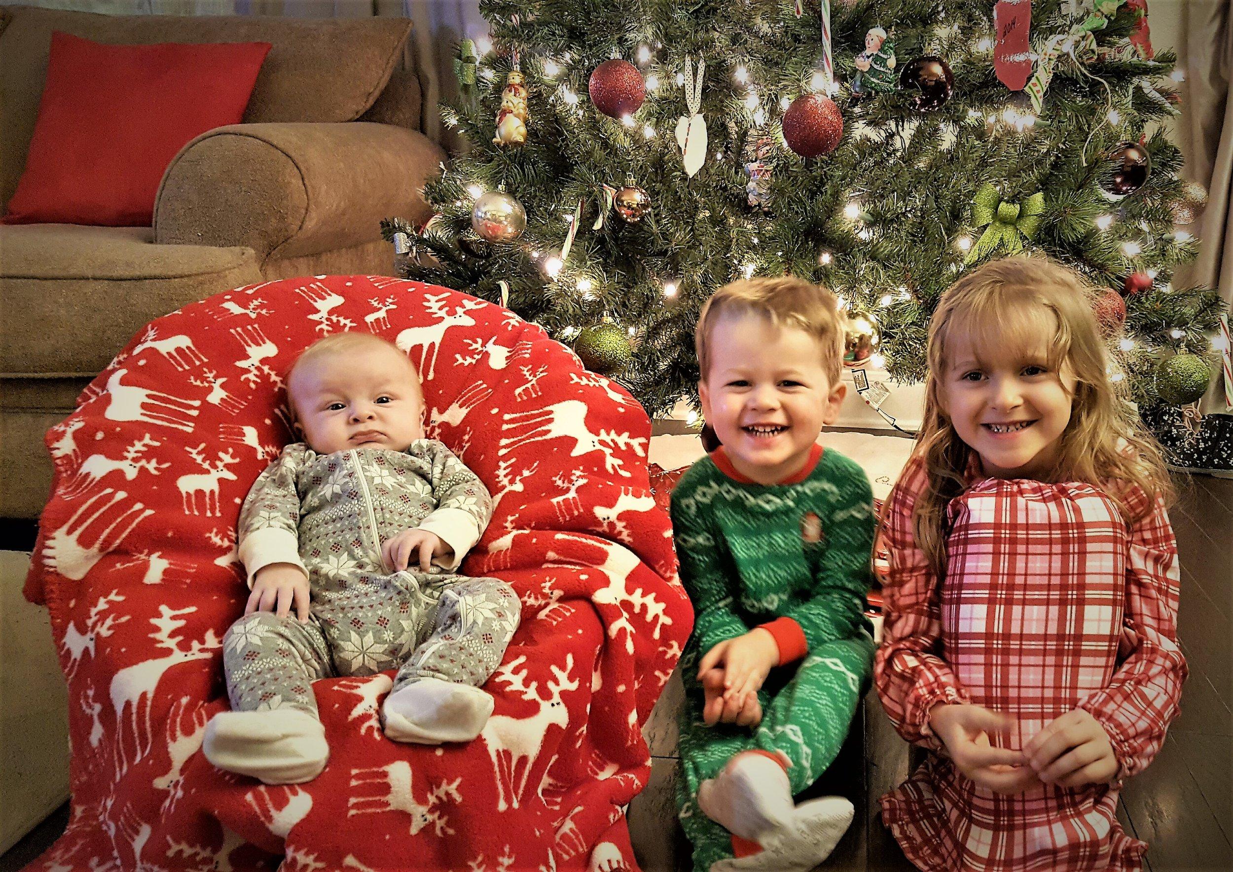 Looking so cute in their new Christmas pj's last year!