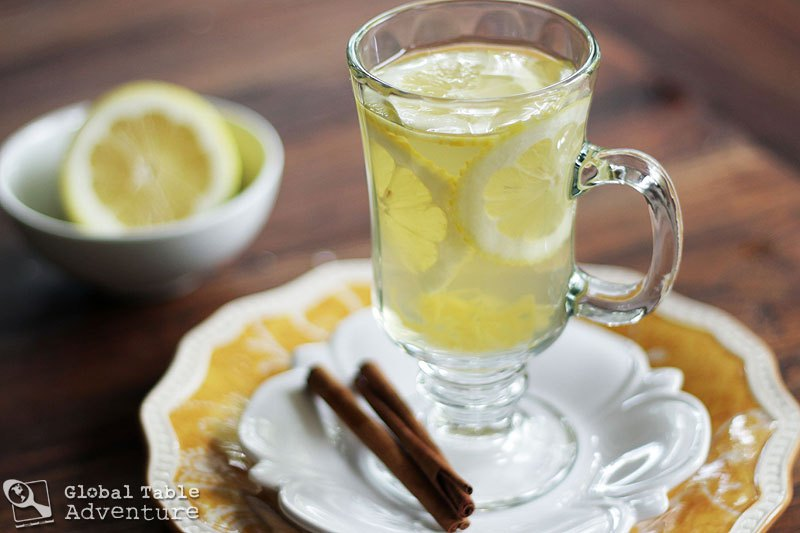 Hot Honey Lemon With Vodka from  Global Table Adventure