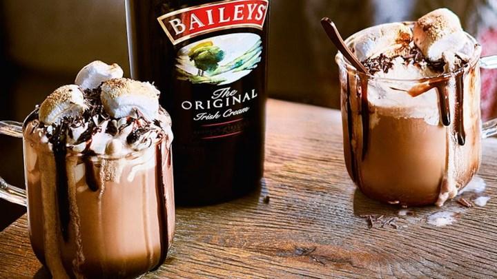 Baileys Hot Chocolate from  Allrecipes