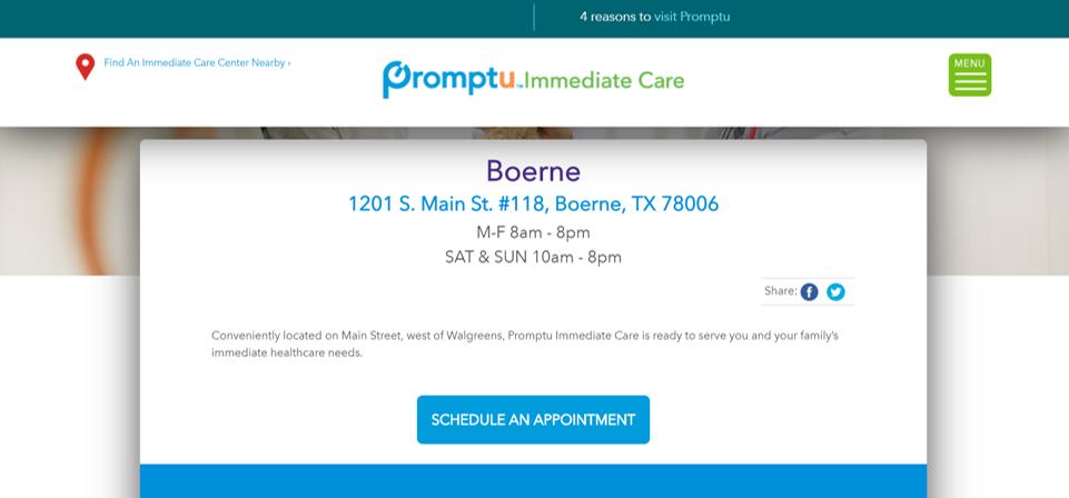 promptu immediate care - boerne texas - making life easier