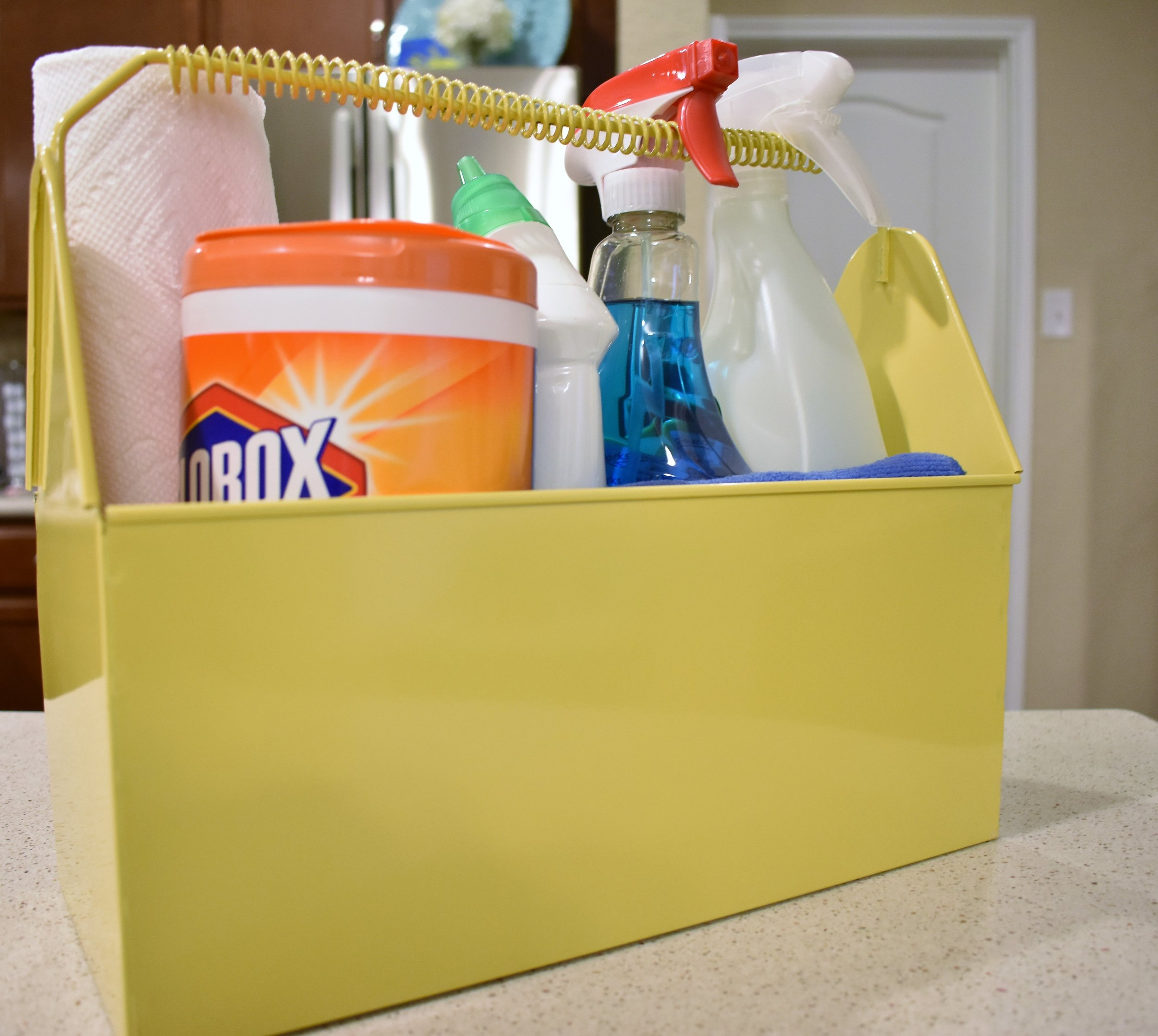 cleaning caddy caddie - household cleaners kitchen laundry room storage and organization