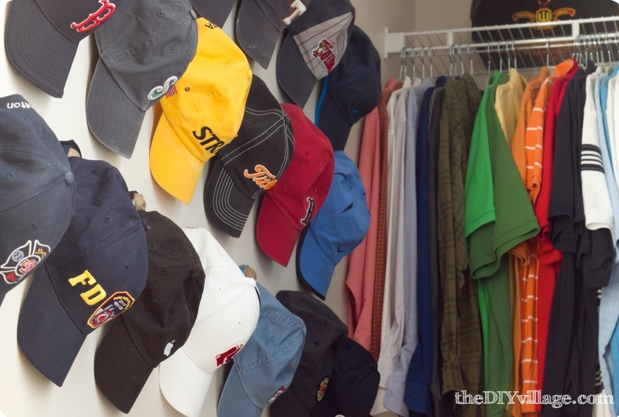 closet storage and organization - hat storage