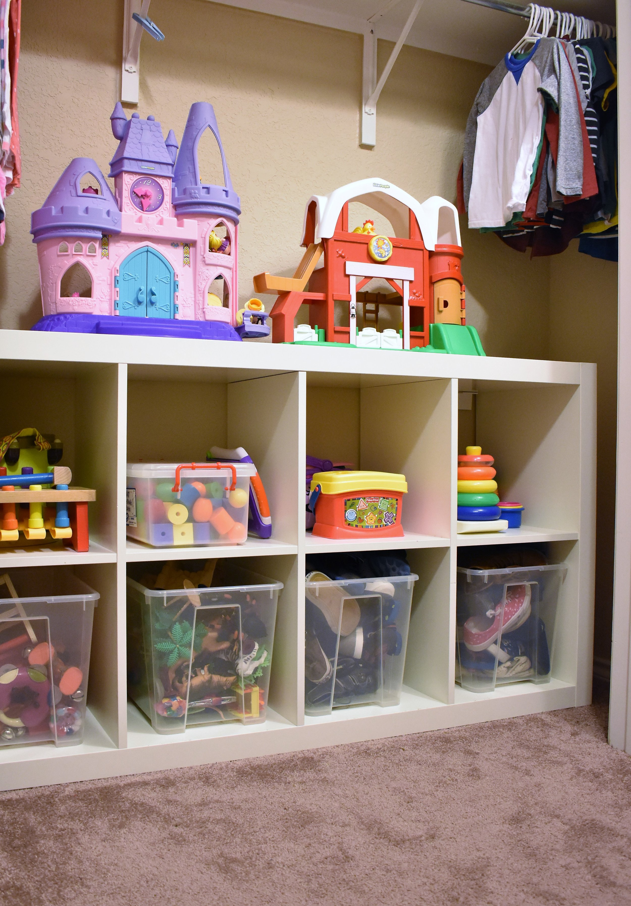 kids room toy storage - bedroom storage and organization