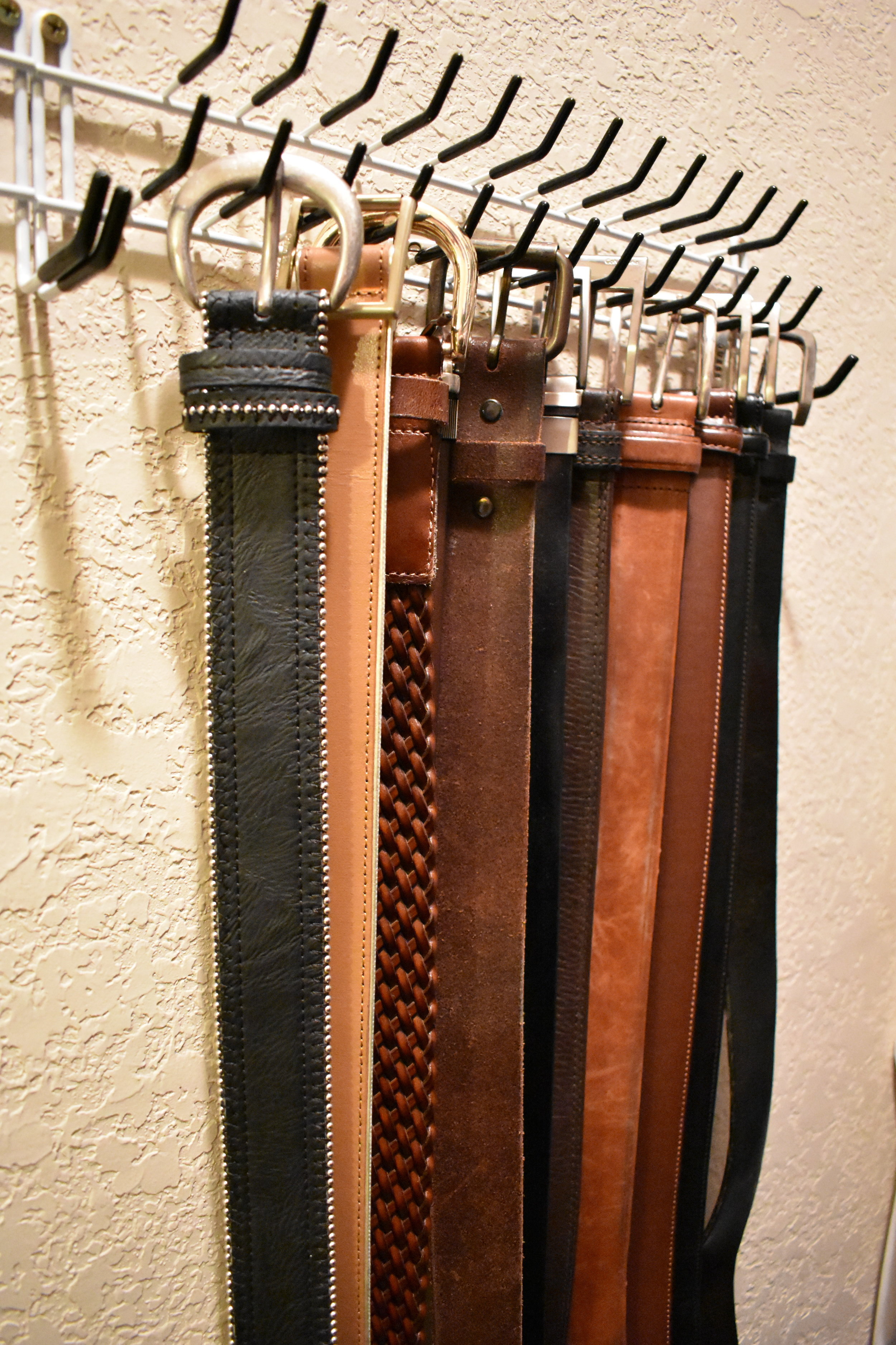 closet storage and organization - tie belt and scarf storage
