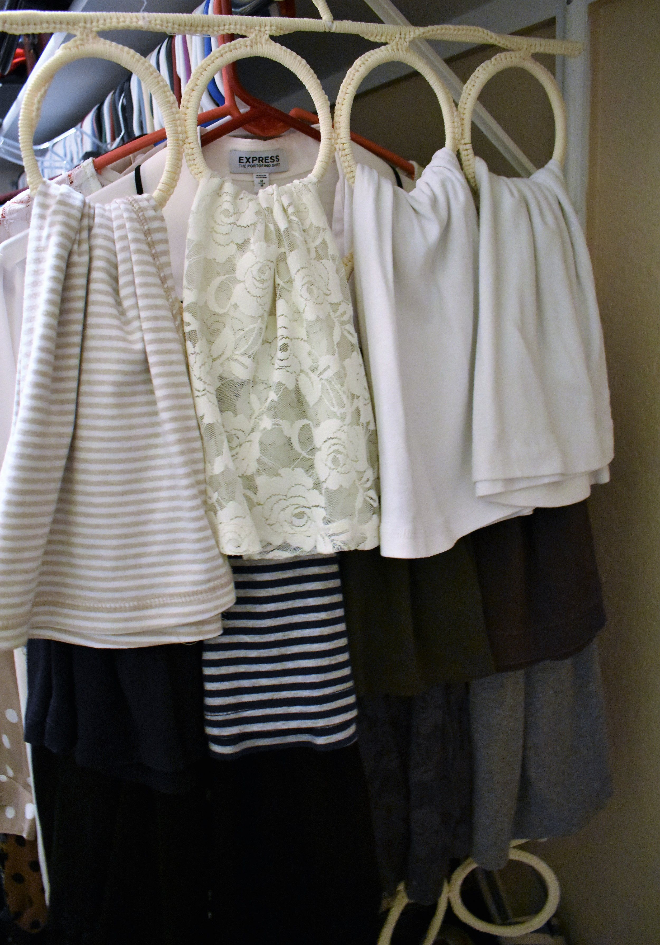 scarf tank undershirt storage - closet bedroom organization and storage