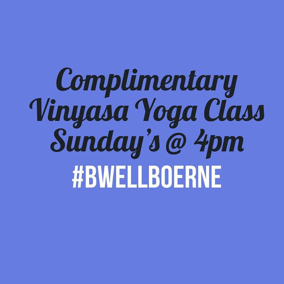 free yoga at b well health & fitness b well shoppe boerne tx texas