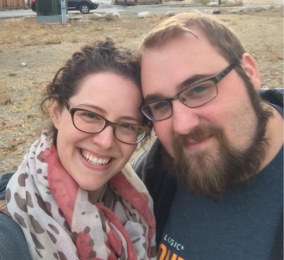 Jennifer Gray, with her husband Cody.
