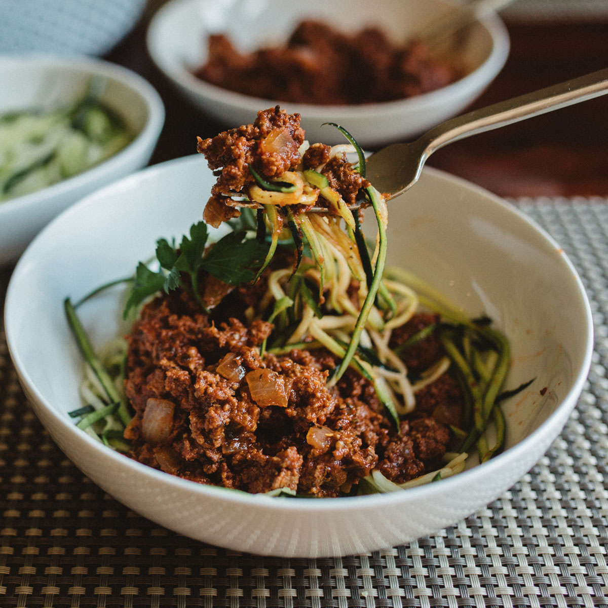 Beef Ragu over Zoodles