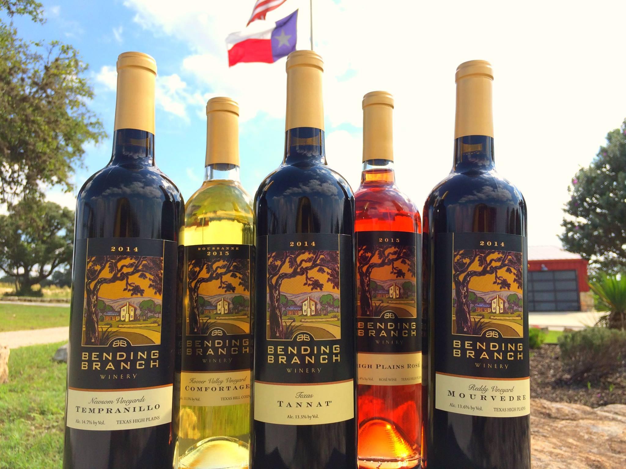 bending branch winery comfort texas