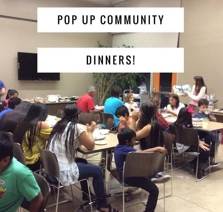 Pop up community dinners hosted by the Boerne Community Coalition ( Image Source )