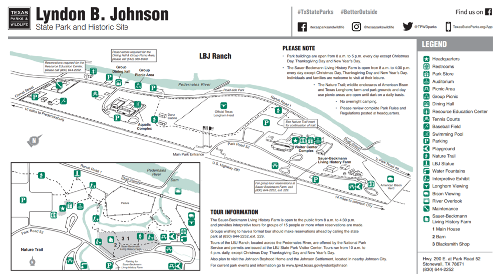 Find the full-sized LBJ State Park map  here