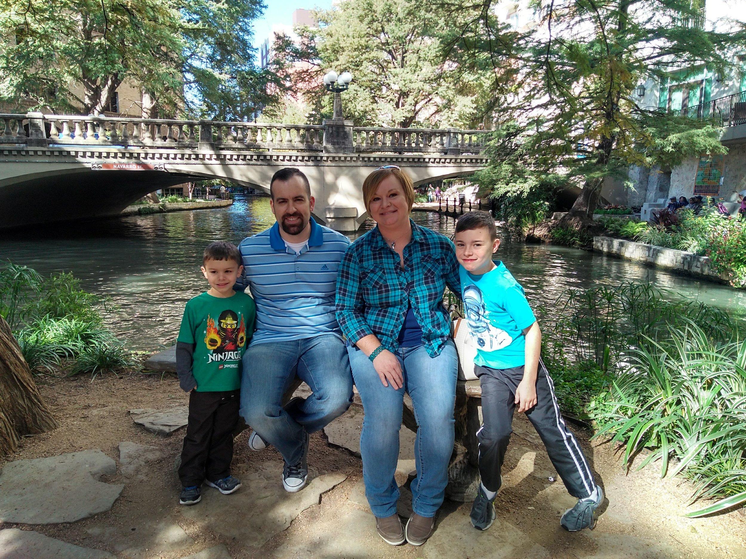Jaime, her husband Josh, and their children.