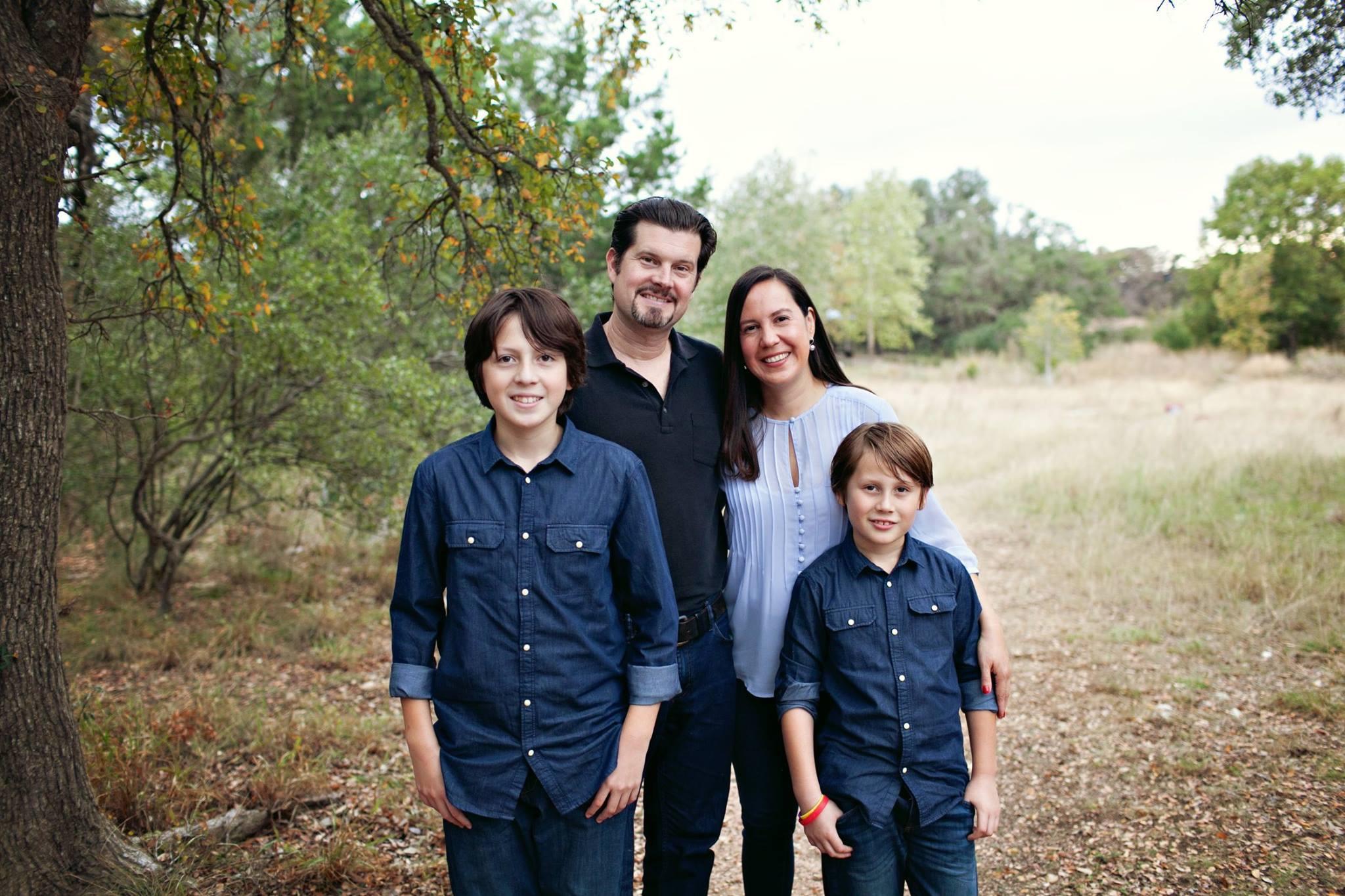 Rosie, her husband David, and their children.