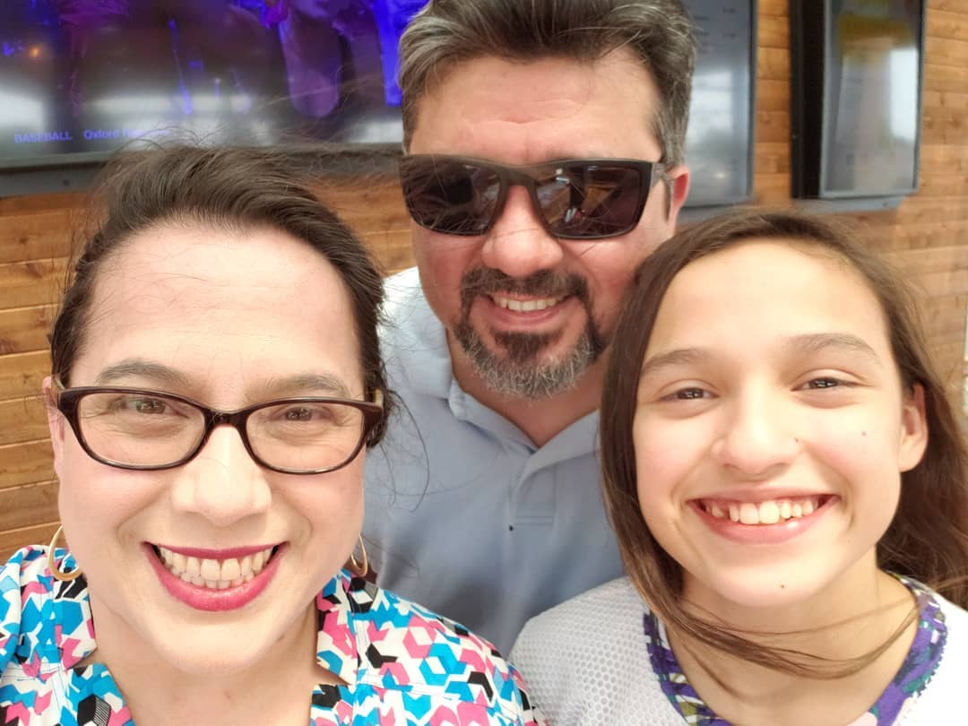 """Cool Beans Box founder, Micaela """"Mickey"""" Elizondo with her husband Noe and daughter, Calista (courtesy photo)."""