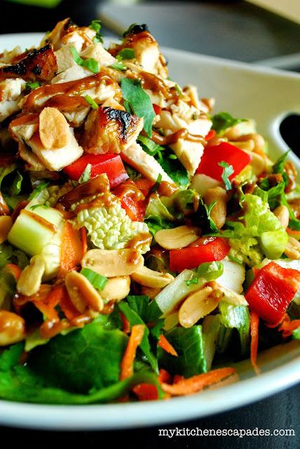 THAI CHICKEN SALAD LOW CARB DINNER RECIP