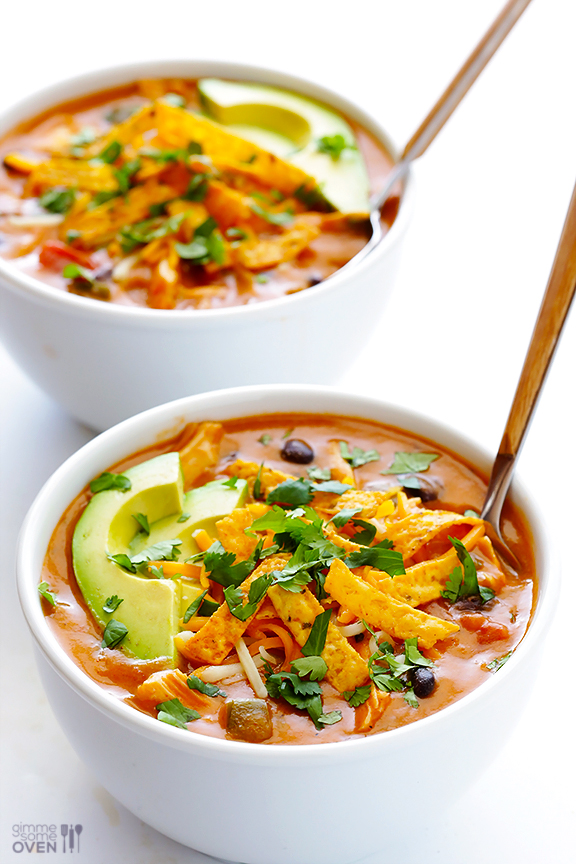 CHICKEN ENCHILADA SOUP LOW CARB DINNER RECIPE