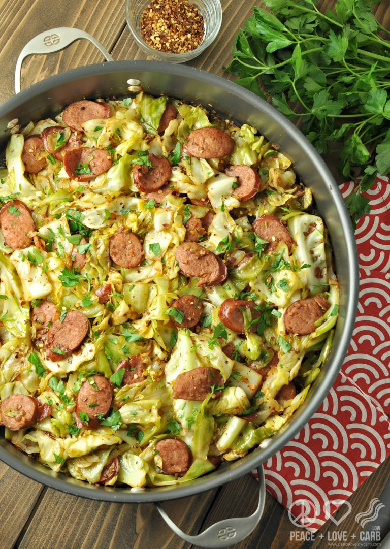 FRIED CABBAGE WITH KIELBASA LOW CARB DINNER RECIPE