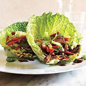 MU SHU PORK WRAPS LOW CARB DINNER RECIPE