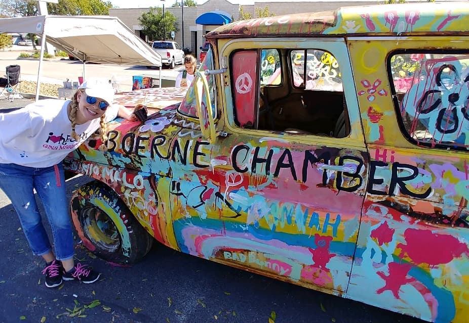 """The 2018 New & Luxury Auto Show Kids Corner, sponsored by  Belden's Automotive , featured a """"Beater Car"""" painting activity led by  Gina Marie's Art Studio . The beater car """"canvas"""" was graciously donated by  H.W. Schwope & Sons  ( Image Source )."""