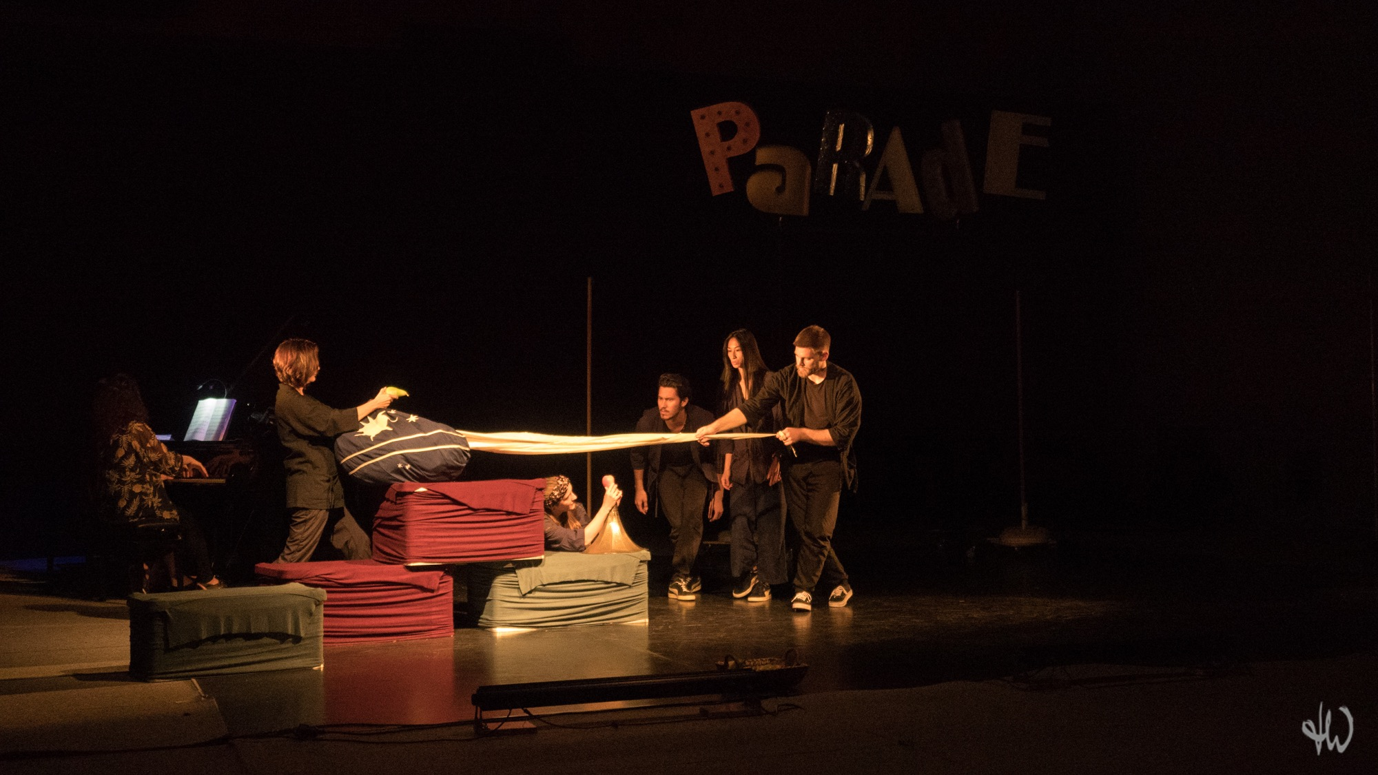 Copy of Copy of PARADE Picasso Satie Cocteau by Karin Schäfer Figuren Theater