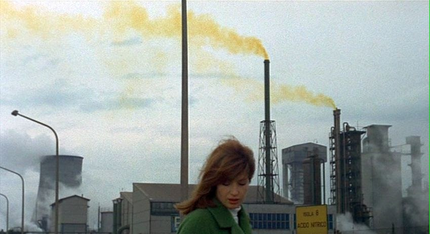 Red Desert (1964) - Michelangelo's first color film is a provocative and artistic approach to the industrial revolution.