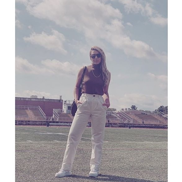 @saint_michelle in the Oliver pants. Now on sale