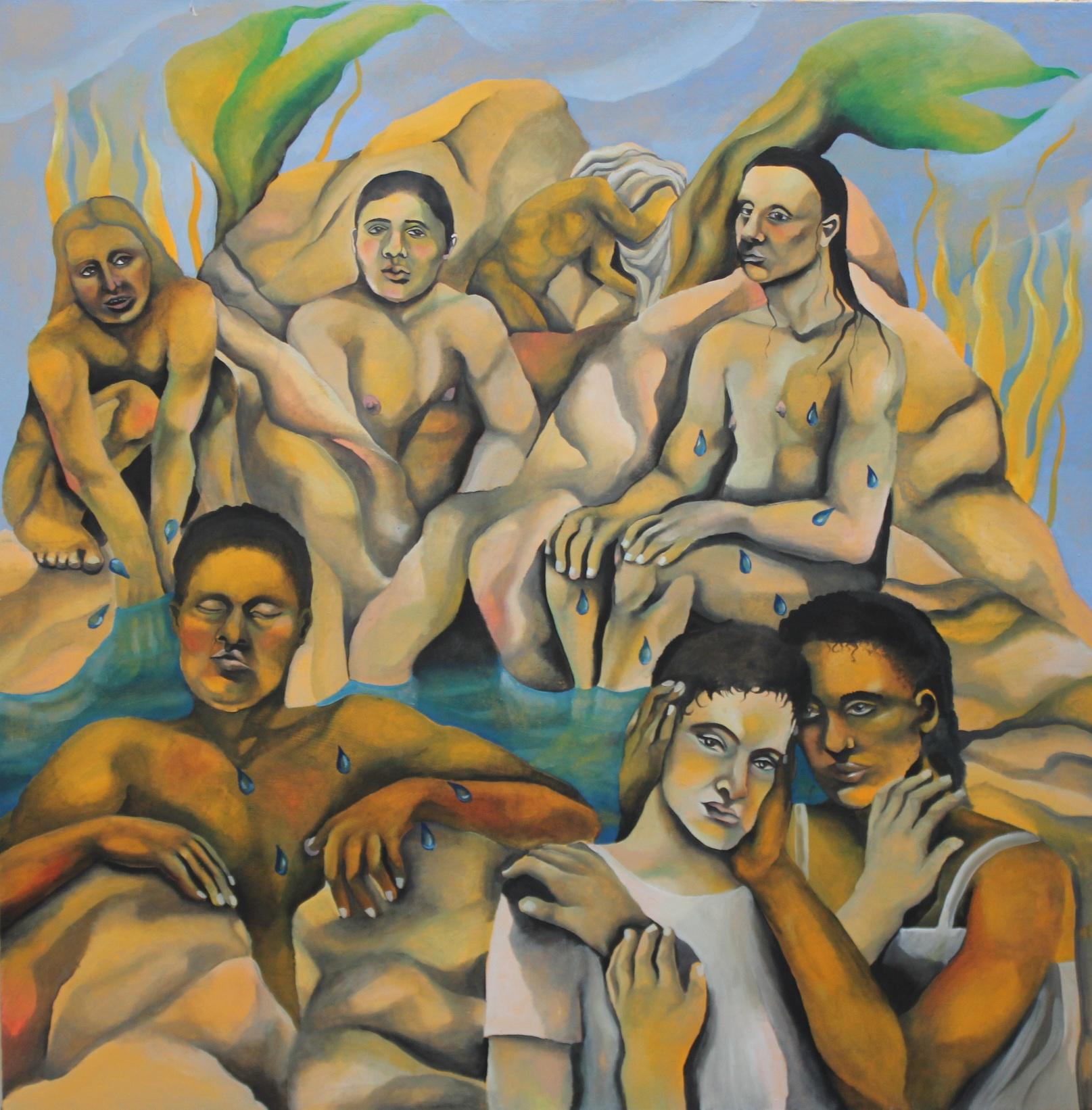 Bathing (The Source) , oil on canvas, 124cm/124cm, 2017