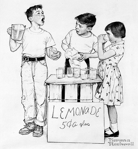 Norman Rockwell's Lemonade Stand, 1955