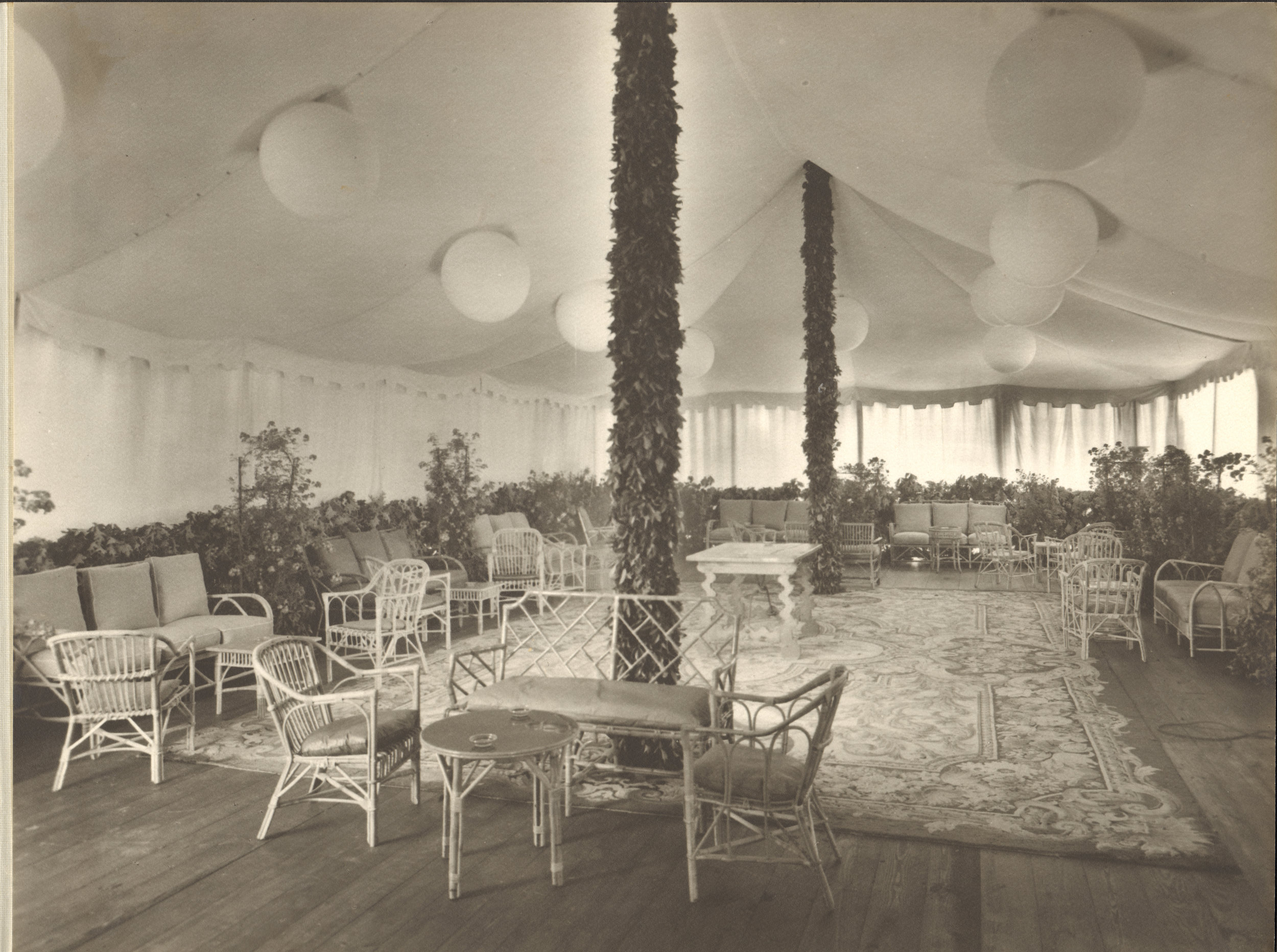 Tented Reception - Early 1900's
