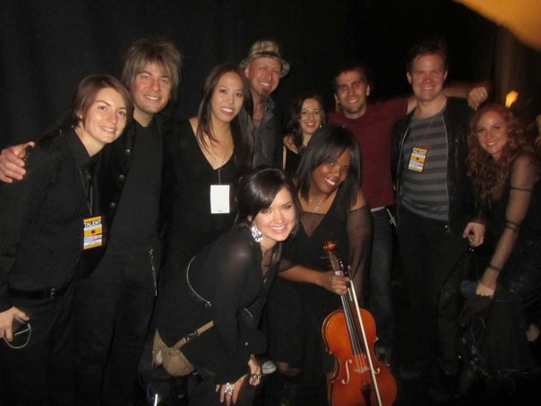 Backstage with Taylor Swift Band