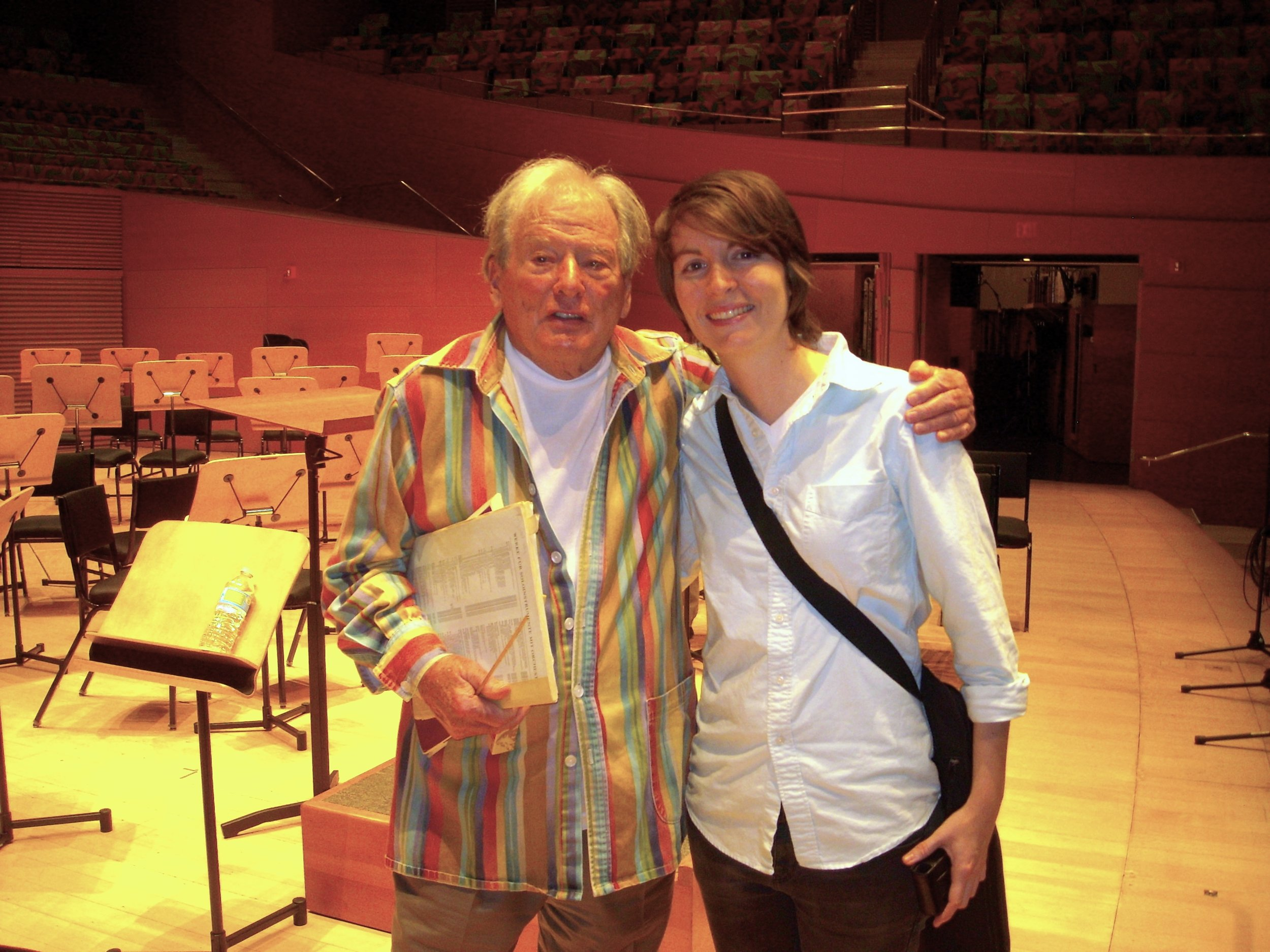 after rehearsal with Sir Neville Marriner