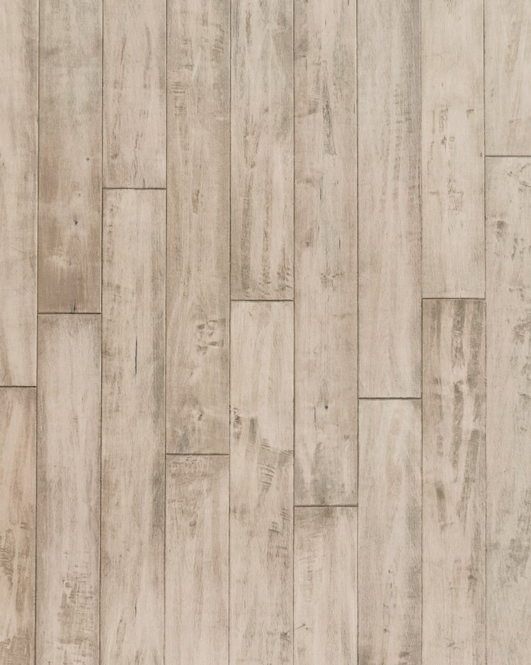 """NVMA-25  Drift Branch Maple: Light in color, this flooring features a 5/8"""" thickness, mild hand scraping, natural crevices and mineral streaks."""